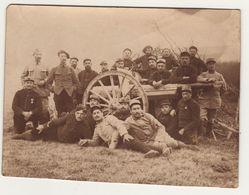 Photo Guerre 1914 1918  Artilleurs Et Leur Pièce 1915 - 1914-18