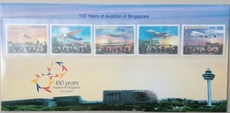 2011 Singapore. 100 Years Of Aviation In Singapore. Stamp Set. MNH - Singapore (1959-...)