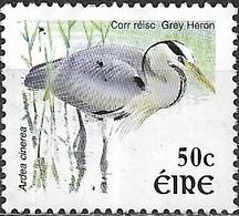 IRELAND 2002 New Currency Birds - 50c - Grey Heron MNG - 1949-... Republiek Ierland