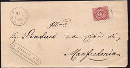 ITALY ITALIA 1886. Busta 10 Centesimi PESCASSEROLI - MANFREDONIA - Usati