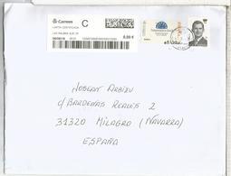 LAS PALMAS CC CERTIFICADA CON ATM SALAMANCA Y SELLO BASICA 5 EUROS - 1931-Hoy: 2ª República - ... Juan Carlos I