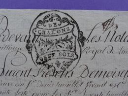 1778 G. De Chalons (Marne) Papier Timbré N° 228 De 2 Sols Cornetet Langres (Haute-Marne) Vve Tanneur Humblot Bar S/ Aube - Cachets Généralité