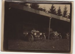 Photo Guerre 1914 1918  Ambulance Au Garage - 1914-18