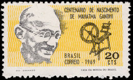 Brazil 1969 Mahatma Gandhi Unmounted Mint. - Brazil