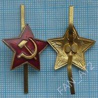 USSR Soviet Army RUSSIA Uniform Military Cockade Hat Badge Red Star. 1970-1991 - Uniforms