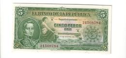 Colombia 5 Peso Oro 1953 Q.fds About Unc Lotto 2510 - Colombia