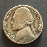 AMERICA - USA -  1943 - Moneta 5 CENTS Jefferson - Emissioni Federali