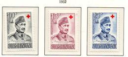 PIA - FINLANDIA  - 1952 : Pro Croce Rossa - Maresciallo Mannerheim - (Yv 390-92) - Primo Soccorso