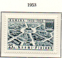 PIA - FINLANDIA - 1953  : 3° Centenario Della Città Di Hamina -   (Yv  400) - Neufs