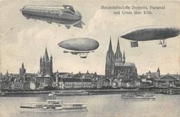 Reichsluftschiffe Zeppelin Parseval Und Gross über Köln - Dirigeables