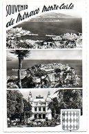 Monte Carlo  Et Le Port En Haven Panorame Panorama Vue Stempel Palais De Monaco Tampon - Monte-Carlo
