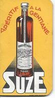 Calendrier Carnet Publicitaire SUZE Aperitif A La Gentiane 1934 Usines MAISON ALFORT PONTARLIER LYON MARSEILLE TOULOUSE - Calendars