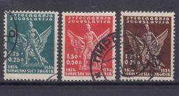 Yugoslavia Kingdom, Sokol Games, 1934 Mi#275-277 Used - 1931-1941 Königreich Jugoslawien