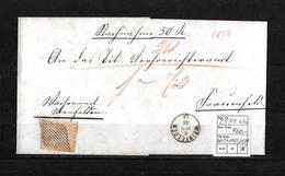 1854-1862 Helvetia (Ungezähnt) Strubel → Brief WEINFELDEN Nach FRAUENFELD   ►SBK-25B1.II/III◄ - 1854-1862 Helvetia (Non-dentelés)