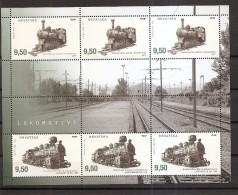 CROATIA 2016,TRAINS, STEAM LOCOMOTIVES,MI NO 1244-45,SHEET,MNH - Trains