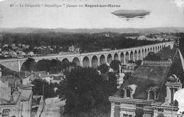 """41 — Le Dirigeable """" Republique """" Planant Sur Negent-sur-Marne - Dirigeables"""