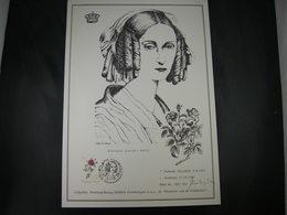 """BELG.1988 2280 FDC A4 (Erembodegem) :""""Geïllustreerde Tekening Koningin Louisa-Maria/Reine Louisa-Marie   """" - 1981-90"""