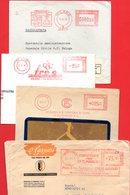 1950-1956 4 BELLE EMA METER FREISTEMPEL AFFRANCATURA ROSSA - Poststempel - Freistempel