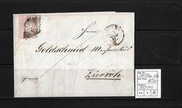 1854-1862 Helvetia (Ungezähnt) Strubel → Brief BUCHS Nach ZÜRICH An Goldschmid   ►SBK-24B1m.II/III◄ - Lettres & Documents