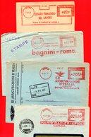 1950-1958 4 BELLE EMA METER FREISTEMPEL AFFRANCATURA ROSSA - Poststempel - Freistempel