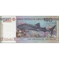 TWN - DJIBOUTI 46b - 40 Francs 2017 40th Independence - Prefix AB UNC - Gibuti