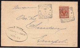 ITALY ITALIA 1906. Busta 2C, VINCI - EMPOLI - 1900-44 Vittorio Emanuele III