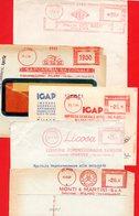 1950-1958 5 BELLE EMA METER FREISTEMPEL AFFRANCATURA ROSSA - Poststempel - Freistempel