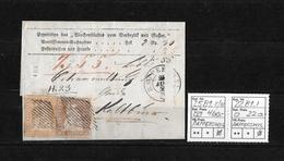 1854-1862 Helvetia (Ungezähnt) Strubel → Nachnahme RAPPERSWYL Nach KALTBRUNNEN ►SBK-25B1.II/III & 22B1.I◄ - Lettres & Documents