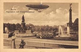 Berlin Siegesanle Und Bismarckdenkmal 1922 - Dirigeables