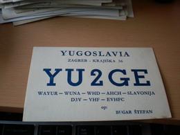 Yugoslavia Radio Club Zagreb Bugar Stefan - Radio Amateur
