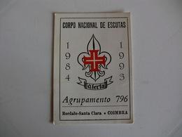 Scouts Corpo Nacional De Escutas Agrupamento 796 Bordalo Santa Clara Coimbra Portugal Portuguese Pocket Calendar 1993 - Calendars