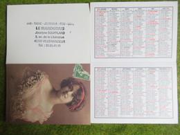 """Calendrier De Poche 1993 Bar-Tabac """"Le Mandorais"""" Villemandeur Loiret - Calendars"""