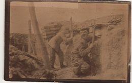Photo Guerre 1914 1918 Inspection Du Terrain Au Périscope Carnoy Somme 1915 - 1914-18