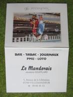 """Calendrier De Poche 1996 Bar-Tabac """"Le Mandorais"""" Villemandeur Loiret - Calendars"""