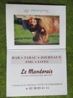"""Calendrier De Poche 1997 Bar-Tabac """"Le Mandorais"""" Villemandeur Loiret - Calendars"""
