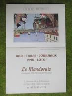 """Calendrier De Poche 2000 Bar-Tabac """"Le Mandorais"""" Villemandeur Loiret - Calendars"""