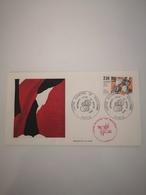 FRANCE FDC 1 Enveloppe SERIGRAPHIE 1er Premier Jour LUTTE CONTRE LE RACISME 1982 - Collection Timbre Poste - FDC