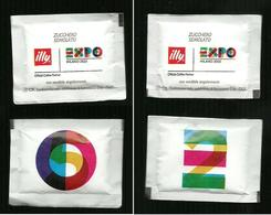 2 Bustine Zucchero Italia - Illy Expo - E & O - Zucchero (bustine)