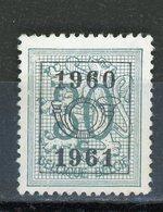 BELGIQUE  1960 / 1961 N° Yvert ? (*) - Typo Precancels 1951-80 (Figure On Lion)