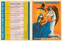 Publicités - Illustrateurs - Illustrateur - Loterie Nationale - Hippisme - Courses De Chevaux - Grand Prix De Paris - Reclame
