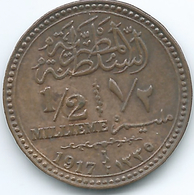 Egypt - Hussein Kamil - AH1335 (1917) -½ Millieme - KM312 - Egypt