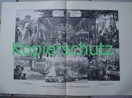 407 Paul Hey Münchner Kraft- Und Arbeitsmaschinenausstellung  Druck 1898 !! - Estampes