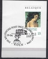 België  O.B.C.  2699   (O)  Paul Delvaux  Die Belgische Post - Köln - Belgique