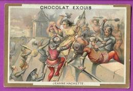 Chromo Image CHOCOLAT EXQUIS -  Grand Evénements - Jeanne HACHETTE (encadré Doré) - Unclassified