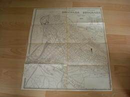 Map Of The City City Plan Beograd Plan Grada 1922 Old Sa Nazivima Ulica - Roadmaps