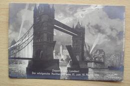 CARTOLINA ILLUSTRATA ZEPPELIN UBER LONDON 18.8.1915 PRIMA GUERRA - Altri