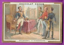 Chromo Image CHOCOLAT EXQUIS -  Grand Evénements - Daumesnil à Vincennes (encadré Doré) - Unclassified