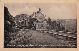 St. Margarets Marguerite Laurentian Laurentides - Train Locomotive - Written 1921 - 2 Scans - Sherbrooke