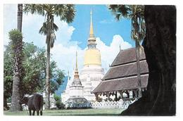 Thailandia A View Of Wat (Temple) Suandok At Chiengmai North Thailand Non Viaggiata Condizioni Come Da Scansione - Tailandia