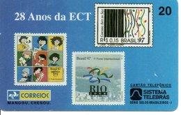 Timbre Stamp  BD Télécarte Brésil Phonecard  Karte (G 127) - Stamps & Coins